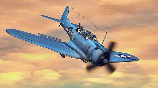 SBD Dive Bomber by Walter Colvin