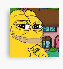 Homer Pepe Canvas Print
