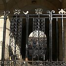 Edinburgh - lovely wrought iron gate in Cowgate by BronReid