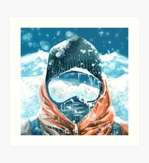 climber in the everest Art Print