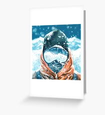 climber in the everest Greeting Card