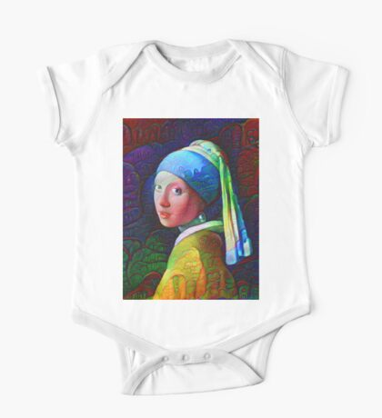 """DeepDreamed """"Girl with a Pearl Earring"""" Kids Clothes"""