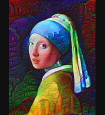"""DeepDreamed """"Girl with a Pearl Earring"""" Kids Pullover Hoodie"""