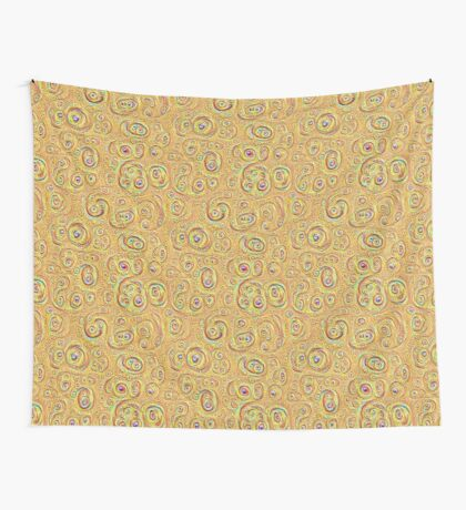 DeepDream Yellow Full 4K Wall Tapestry
