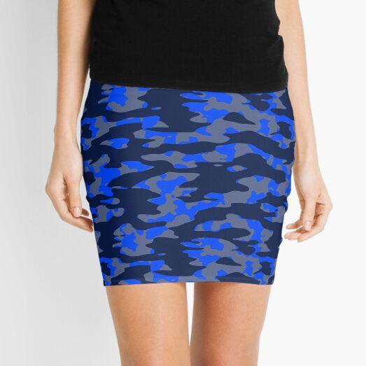 Camo Blues Mini Skirt