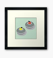 The Roarin' Game of Curling Framed Print