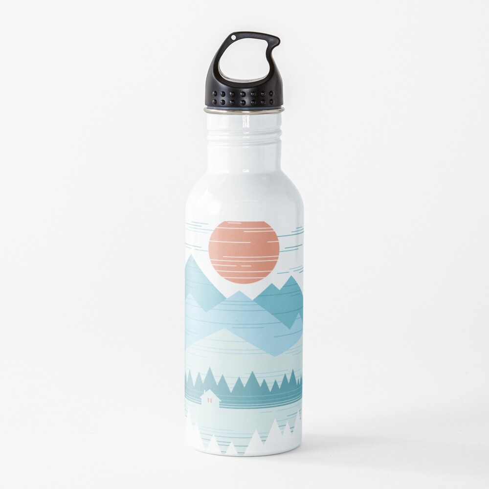 Cabin In The Snow Water Bottle
