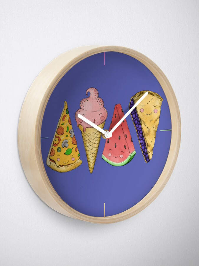 Alternate view of Happy Picnic Triangles Clock