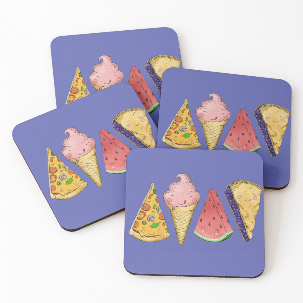 Happy Picnic Triangles Coasters (Set of 4)
