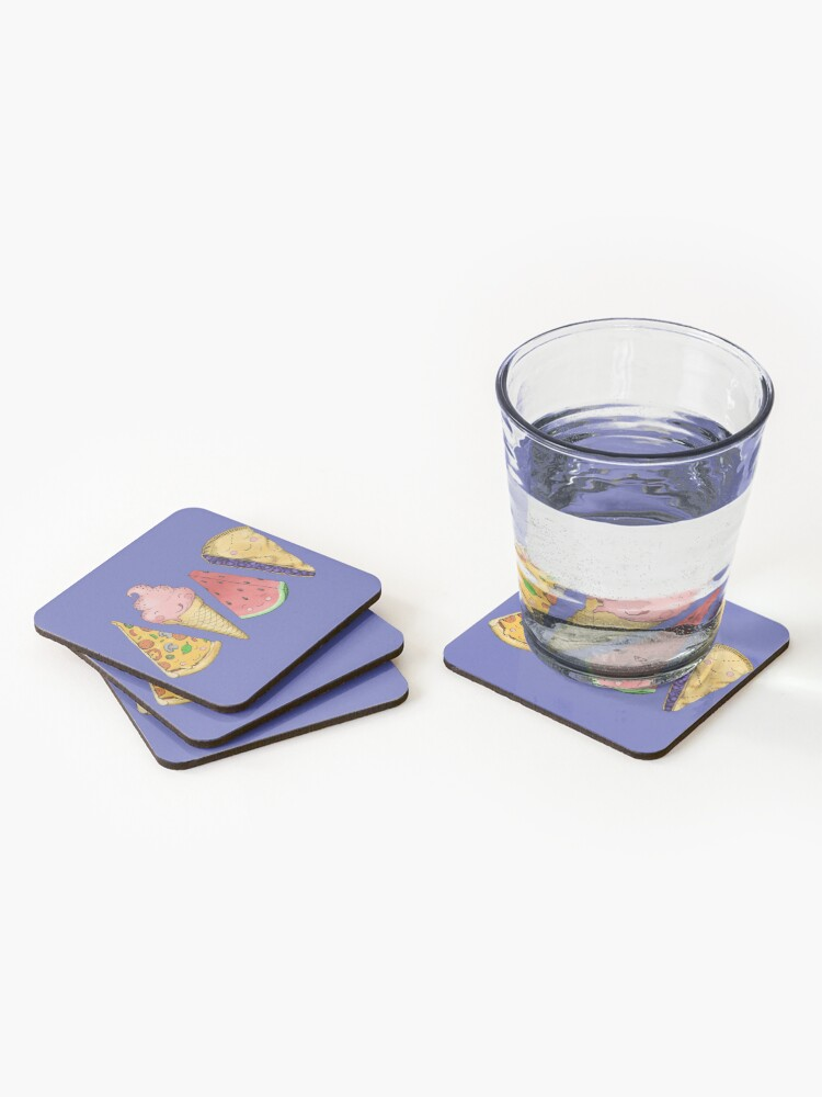 Alternate view of Happy Picnic Triangles Coasters (Set of 4)