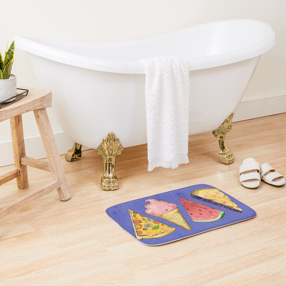 Happy Picnic Triangles Bath Mat