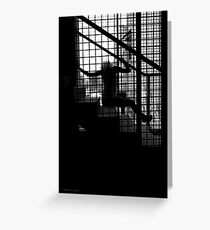 Caged Silhouette Greeting Card