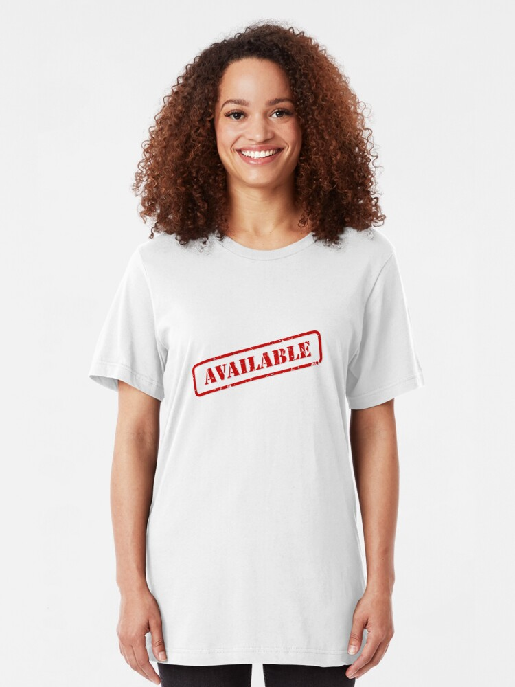 Alternate view of Available stamp Slim Fit T-Shirt