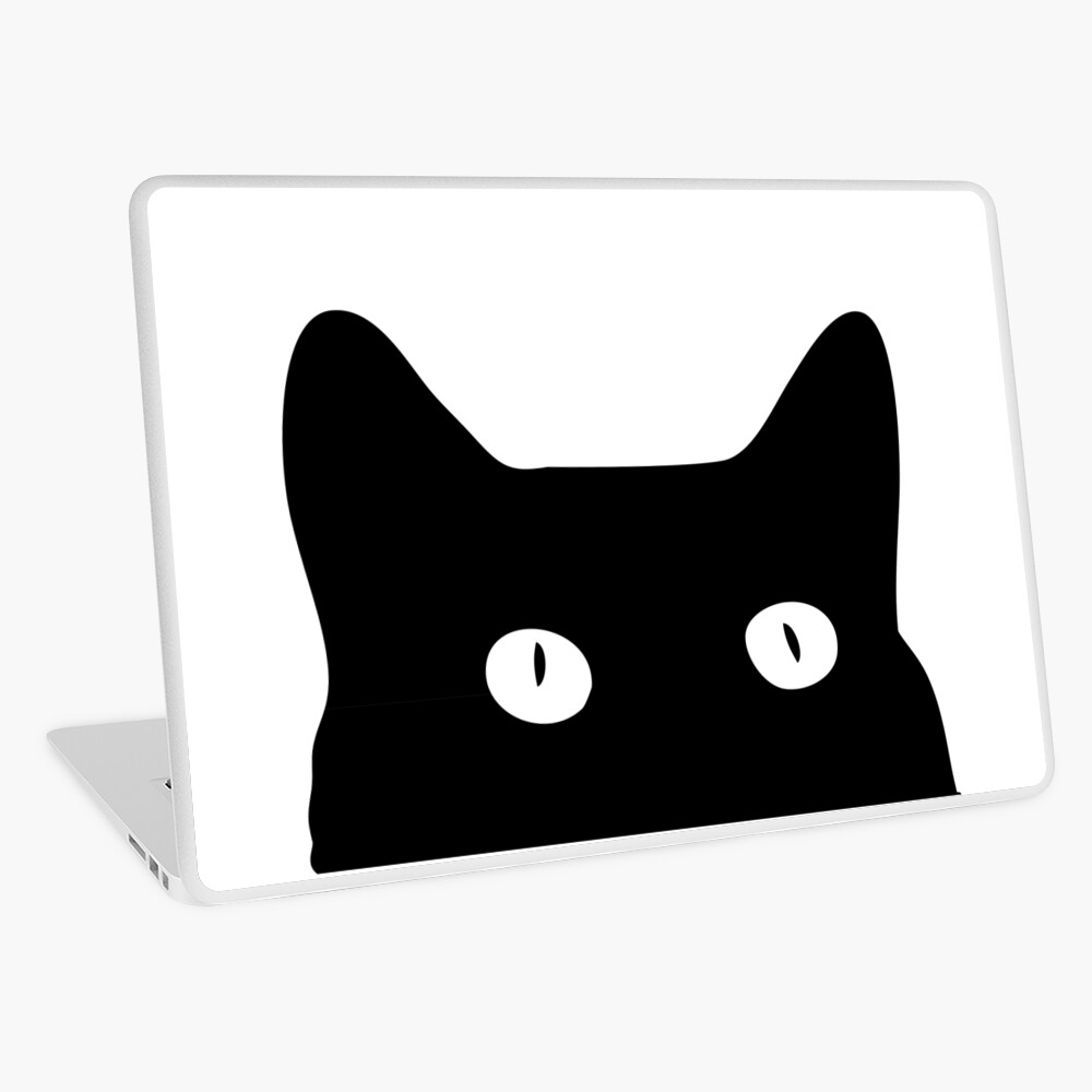 Black Cat Laptop Skin
