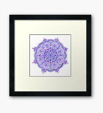 Watercolour Mandala Purple Framed Print