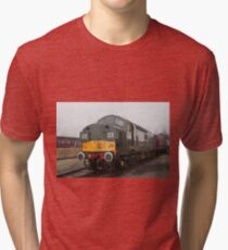 British Rail class 37 diesel-electric Locomotive Tri-blend T-Shirt