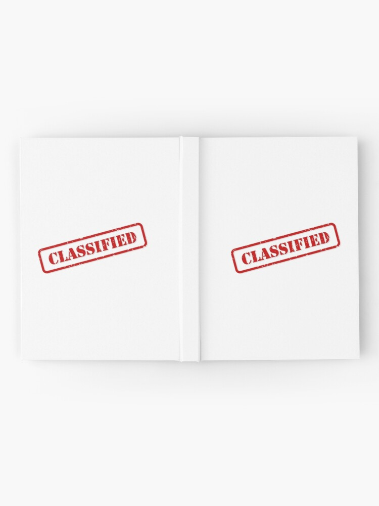 Alternate view of Classified stamp Hardcover Journal
