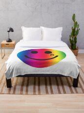 Happy & Sad Throw Blanket