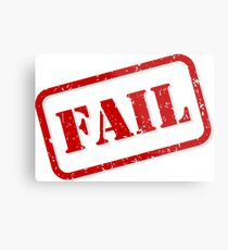 Fail stamp Metal Print
