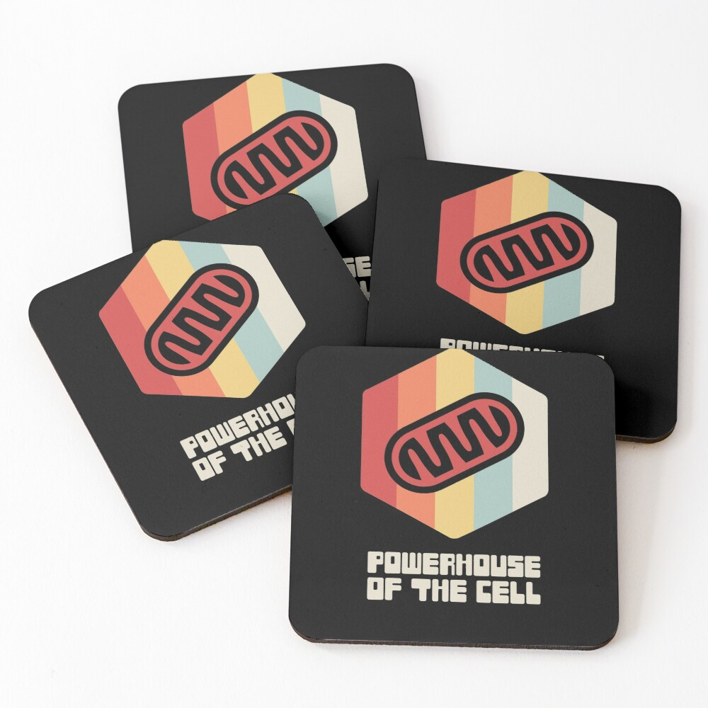 Powerhouse - Mitochondria / Biology Cell Coasters (Set of 4)