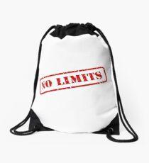 No limits stamp Drawstring Bag