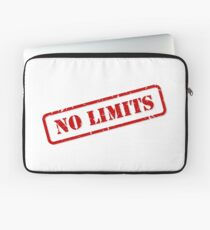 No limits stamp Laptop Sleeve