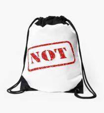 Not stamp Drawstring Bag