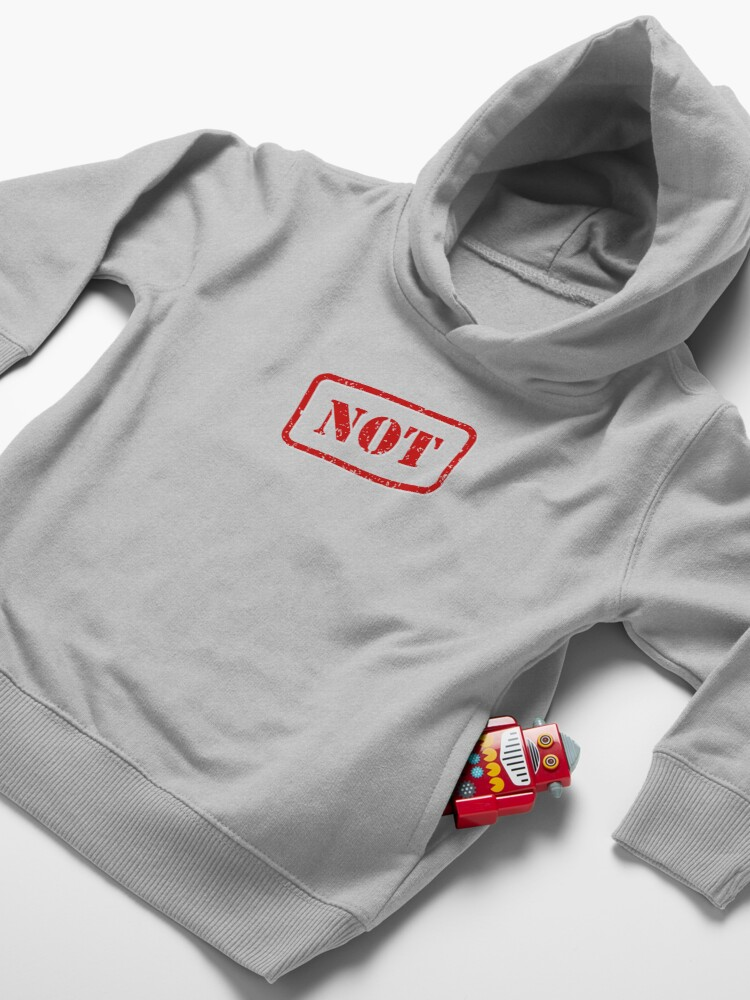 Alternate view of Not stamp Toddler Pullover Hoodie