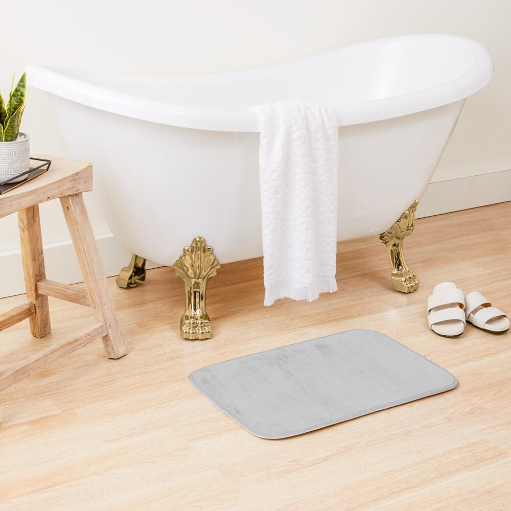Beautiful Cushions/ Plain Silver Bath Mat