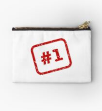 Number 1 Stamp Zipper Pouch