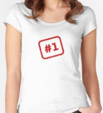 Number 1 Stamp Fitted Scoop T-Shirt