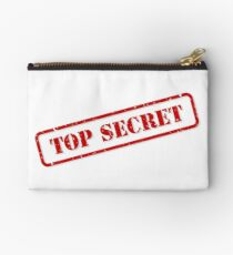 Top secret stamp Zipper Pouch