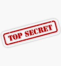 Top secret stamp Transparent Sticker