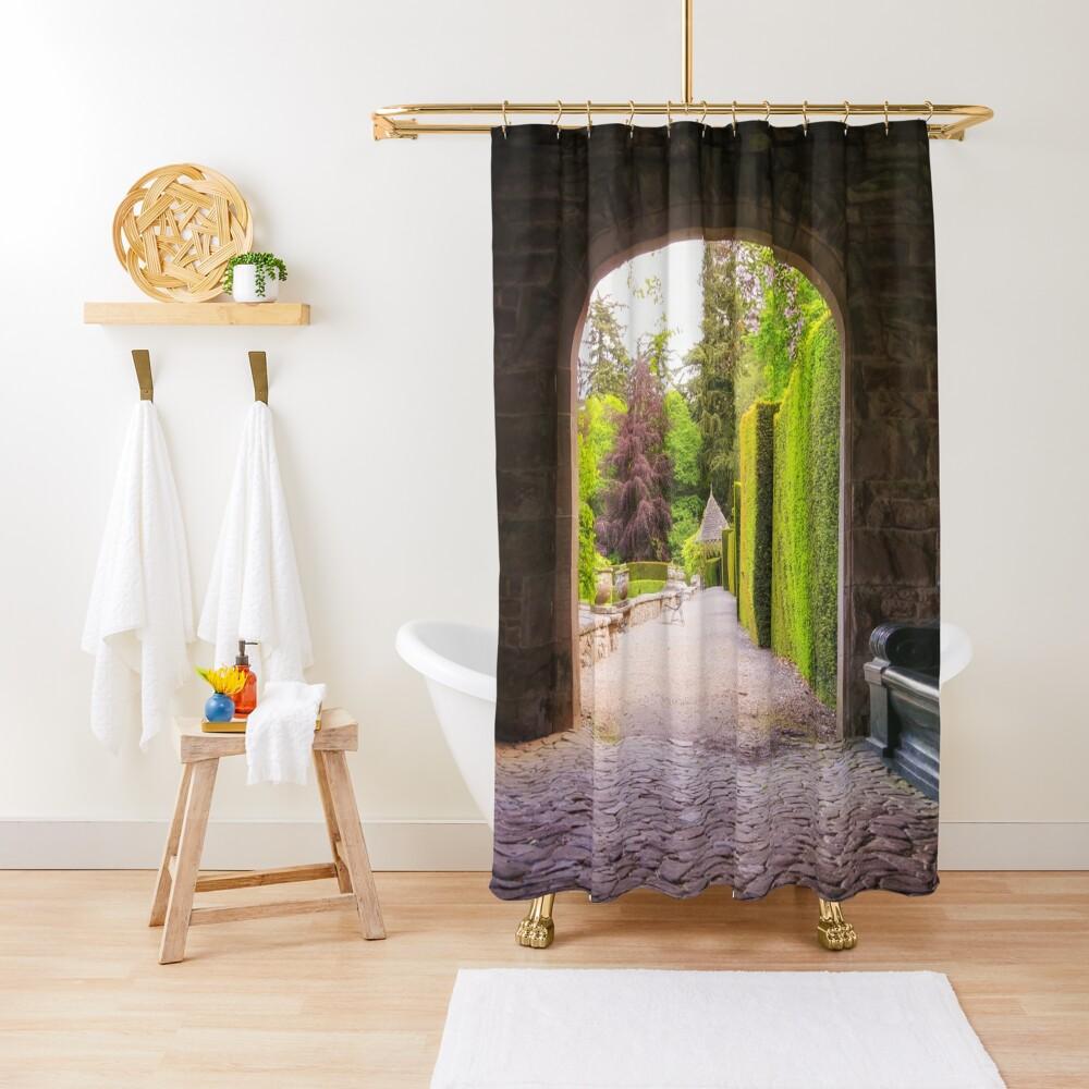 Italian Garden Entrance, Glamis Castle, Scotland Shower Curtain