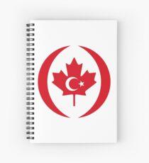 Turkish Canadian Multinational Patriot Flag Series Spiral Notebook