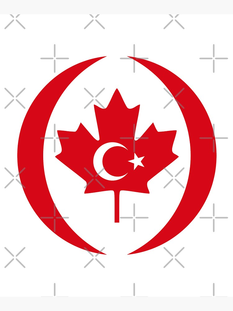 Turkish Canadian Multinational Patriot Flag Series by carbonfibreme