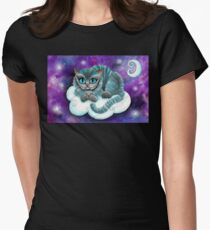 Galaxy Cheshire Cat Womens Fitted T-Shirt