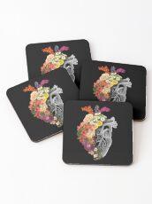 Flower Heart Spring Coasters