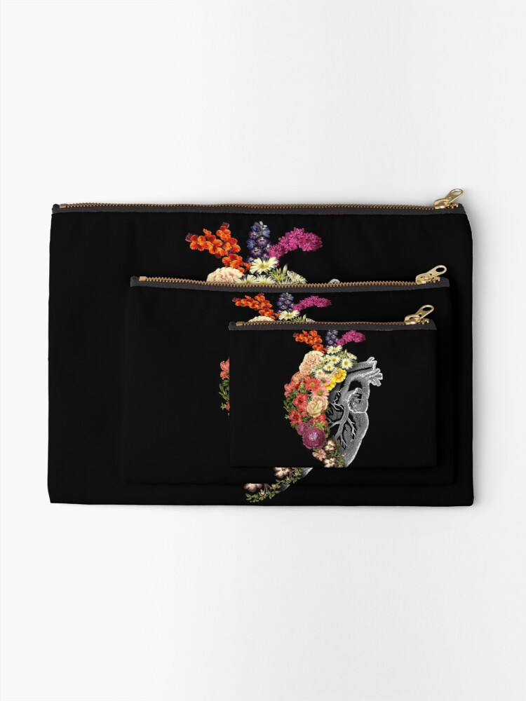 Alternate view of Flower Heart Spring Zipper Pouch