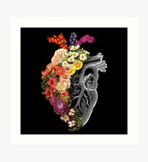 Flower Heart Spring Art Print