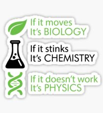 Biology - Chemistry - Physics Sticker
