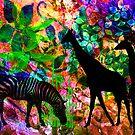 Zebra & Giraffes. by Vitta
