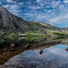 Tryfan and Lake Ogwen Panorama by Adrian Evans