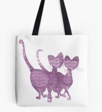 Siamese cats - Lady and the tramp Tote Bag