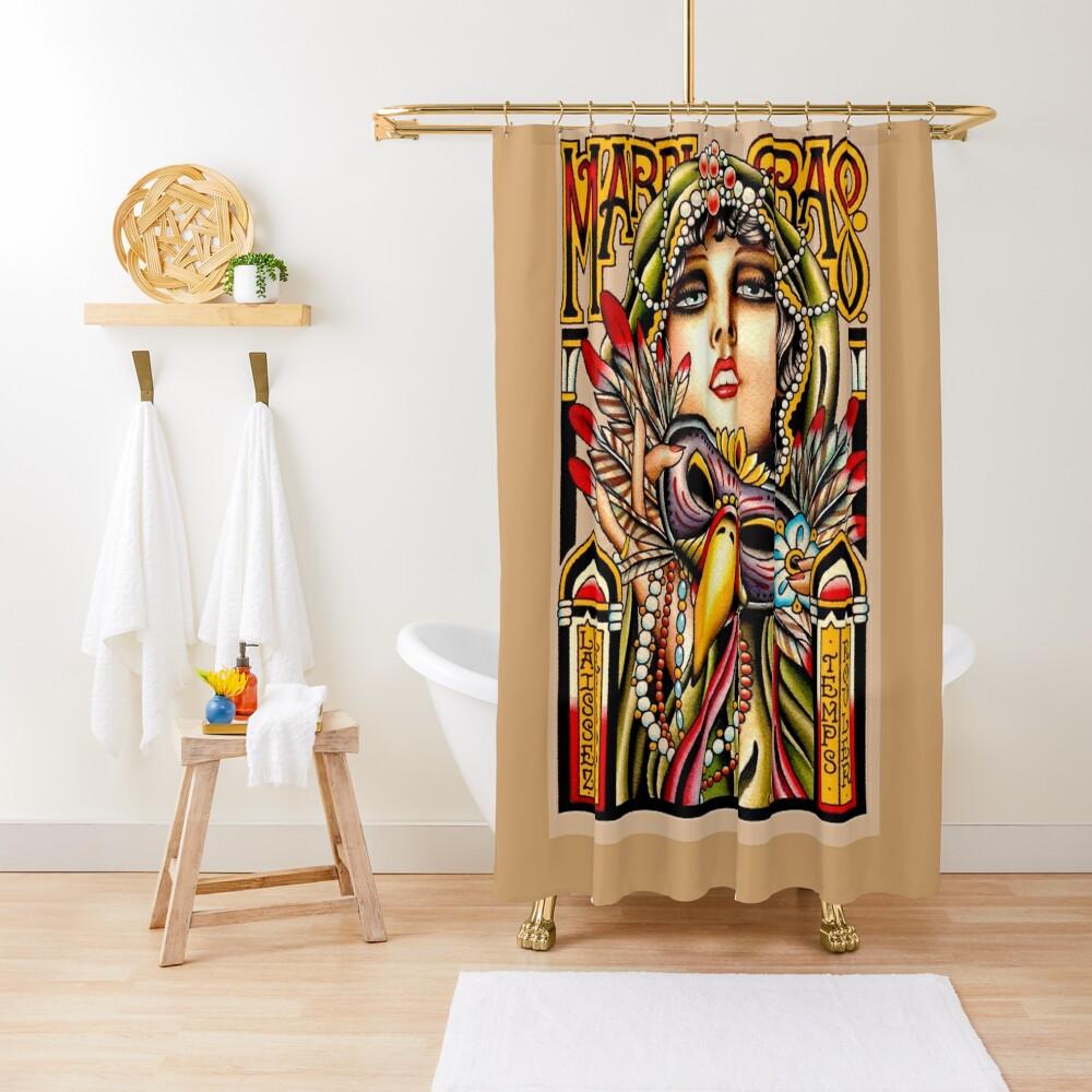 MARDI GRAS; Vintage New Orleans Art Deco Print Shower Curtain