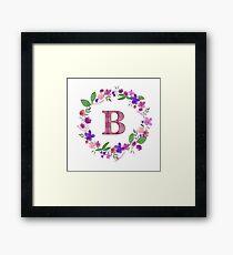 Monogram Letter B Framed Print