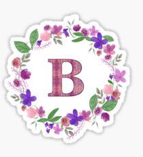 Monogram Letter B Sticker