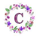 Monogram Letter C by ArtByMichelleT