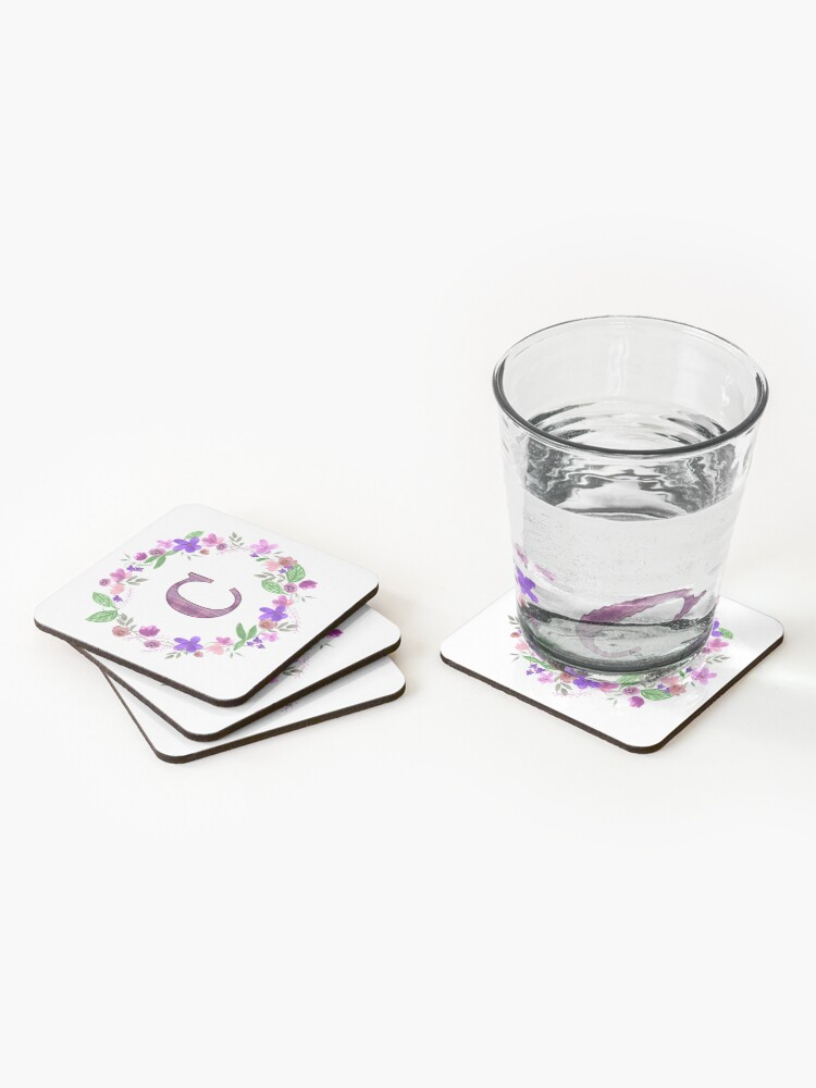 Alternate view of Monogram Letter C Coasters (Set of 4)