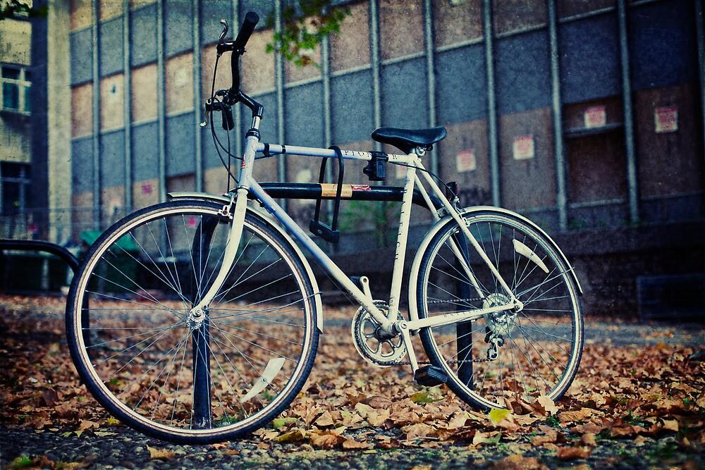 Locked Bike by Sharonroseart